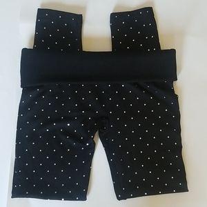 Polka Dot Fleece Lined Leggings